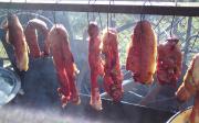 Zavařování uzeného masa dosklenic